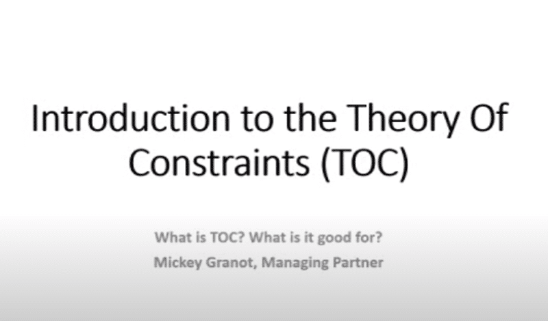 9toc)introduction to the theory of constraints