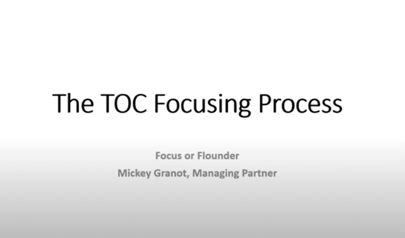 the TOC focusing process