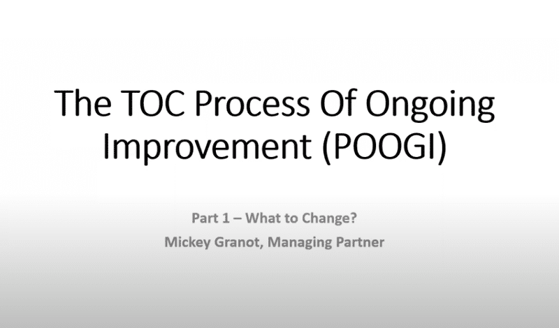 the TOC process of ongoing improvement