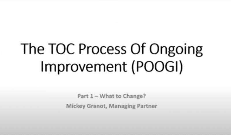 the TOC process ofongoimg improvment